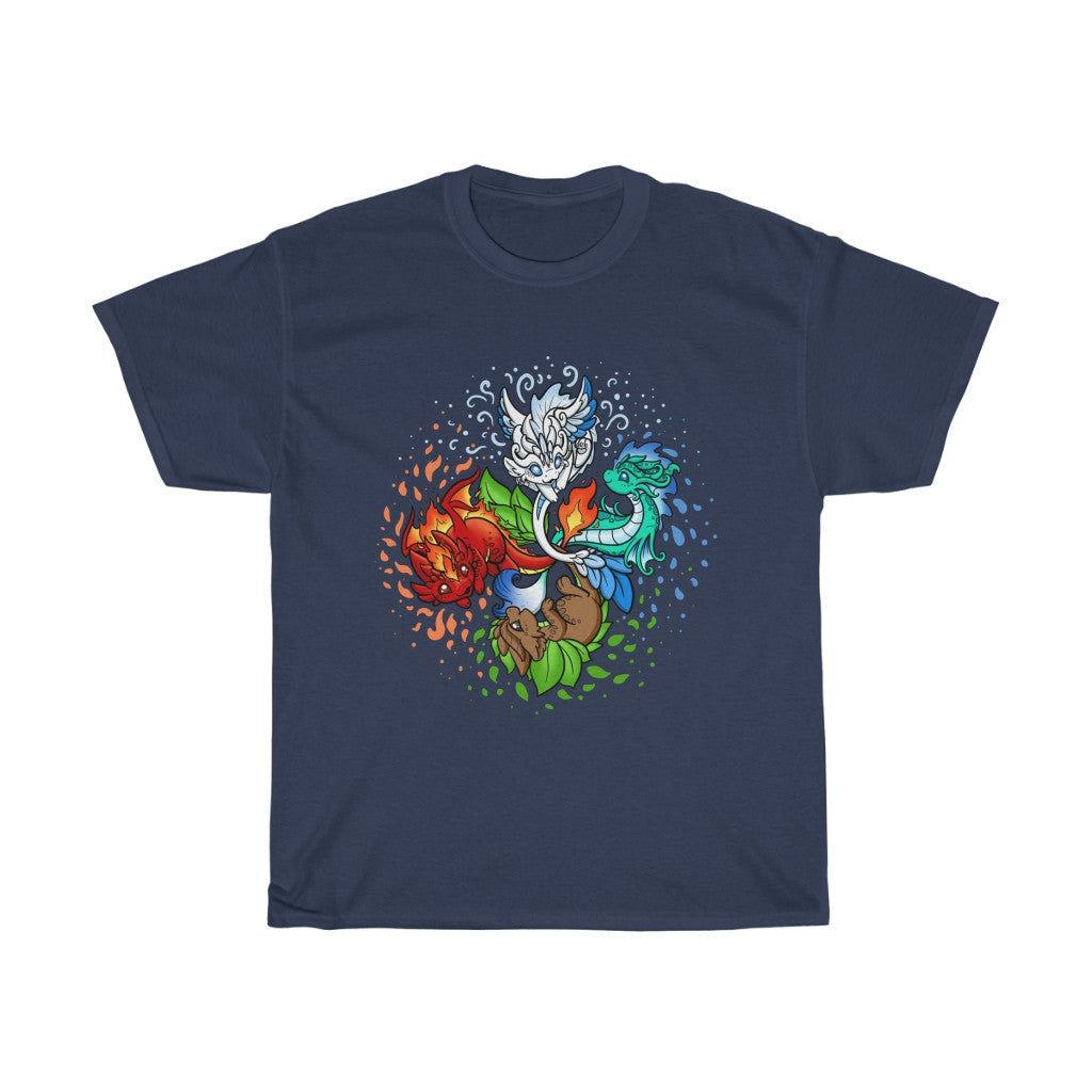 Unisex Elemental Dragons T-Shirt (US ONLY)