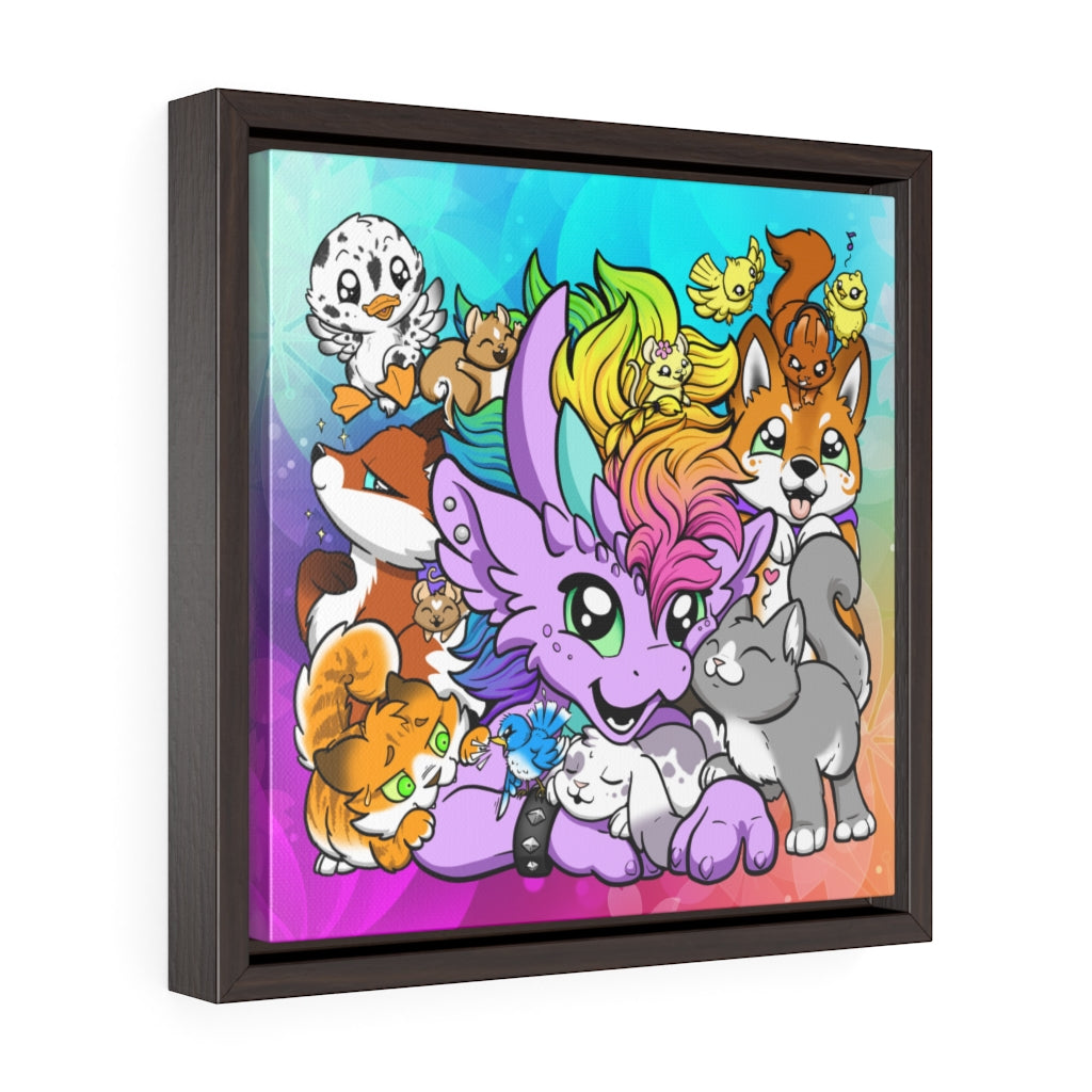 Rosa Critters Framed Canvas Wrap (US ONLY)