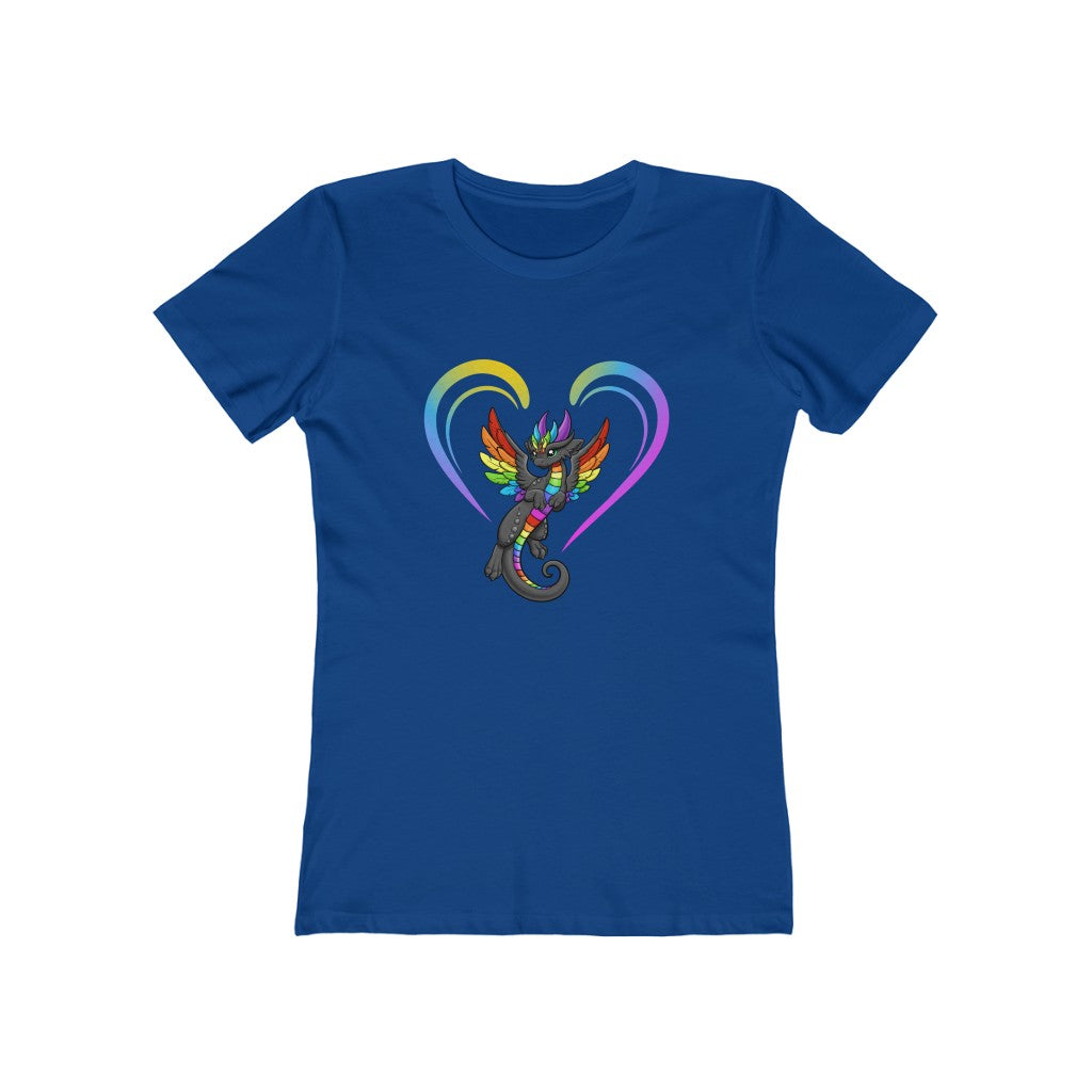 Women's Black Rainbow Dragon T-Shirt (US ONLY)