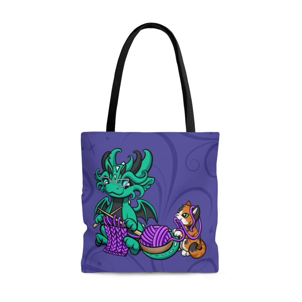 Knitting Dragon Tote Bag (US Only)