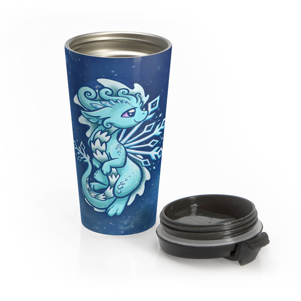 Snowflake Dragon Travel Mug