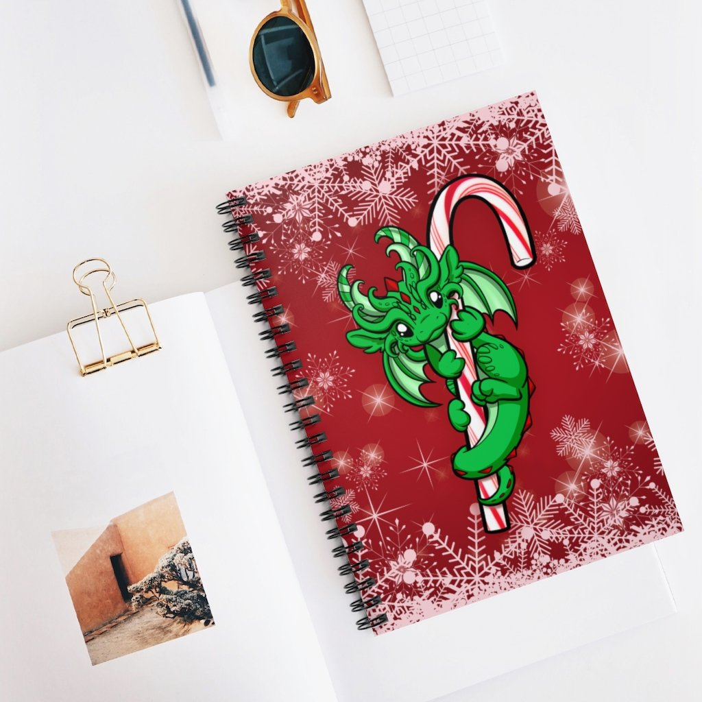 Candy Cane Dragon Notebook (US ONLY)