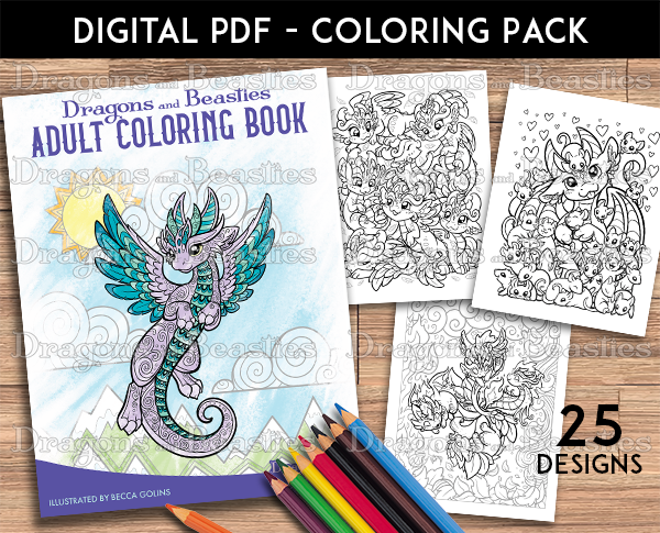 Adult Coloring Pack (Downloadable)