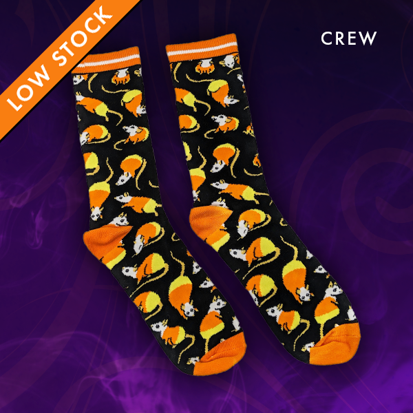 Candy Corn Rat Socks