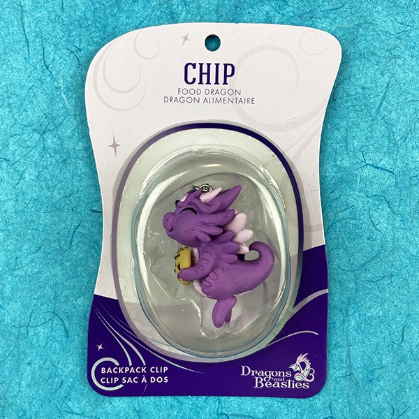 Chip Food Dragon Backpack Clip