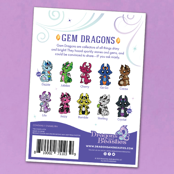 Gem Dragons Series 2 Mystery Enamel Pin