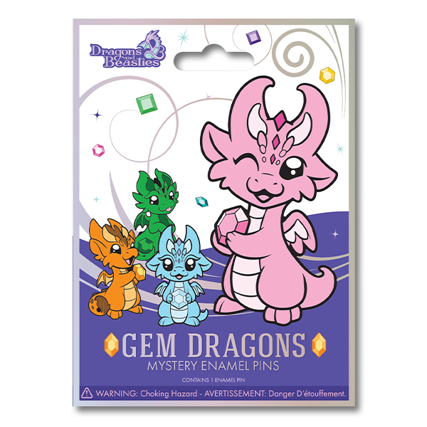Gem Dragons Mystery Enamel Pin