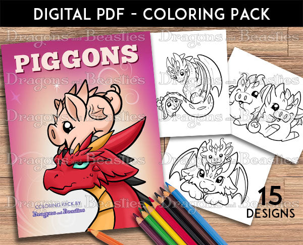 Piggons Coloring Pack (Downloadable)