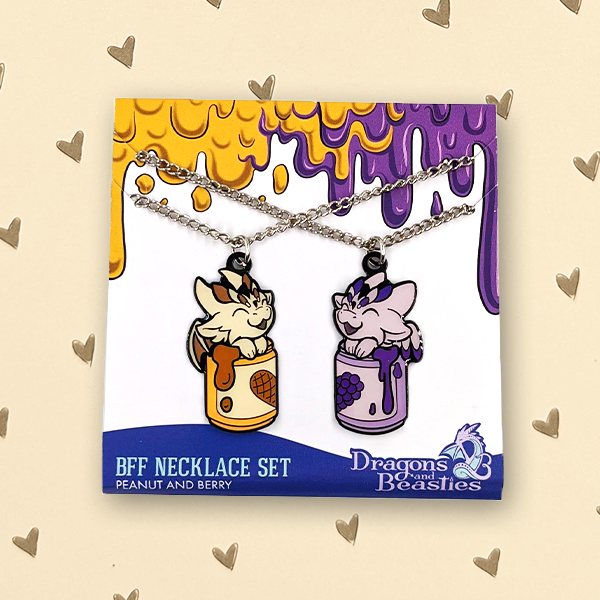 PB & J BFF Necklace Set