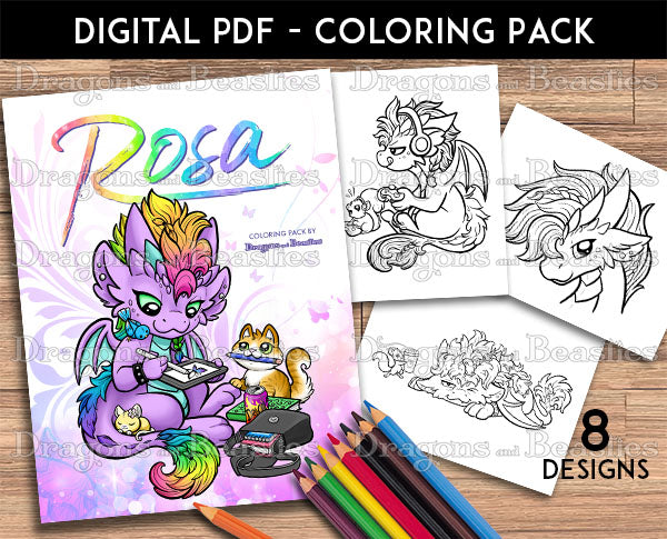 Rosa Coloring Pack (Downloadable)