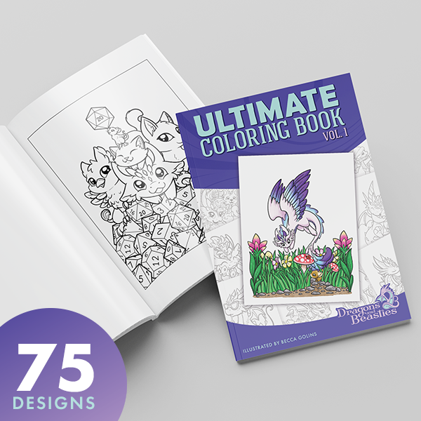 Ultimate Coloring Book Volume 1 (Physical Book)