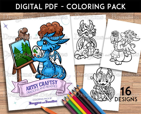 Artsy Craftsy Coloring Pack