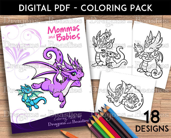 Mommas and Babies Coloring Pack