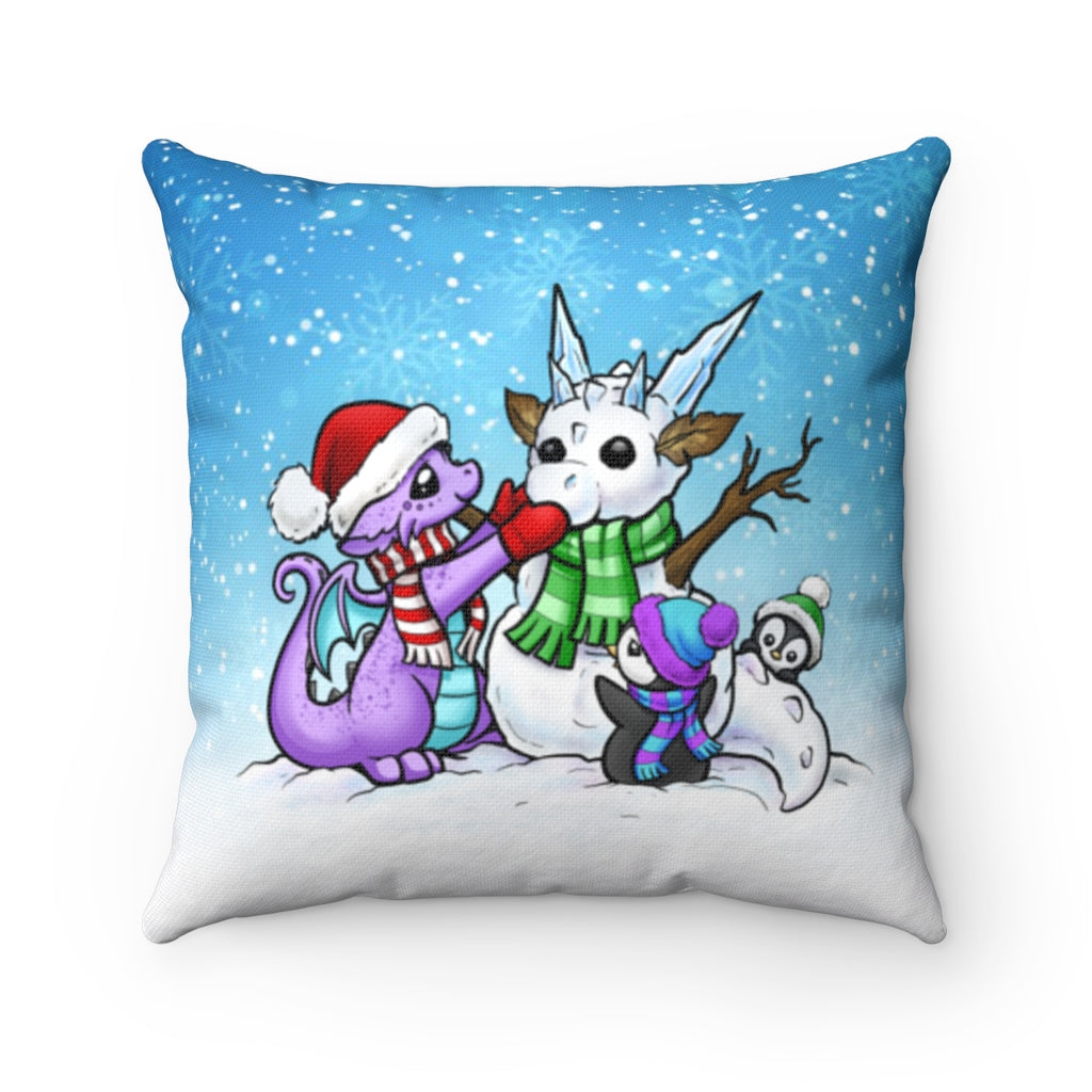 Snow Dragon Throw Pillow (US ONLY)