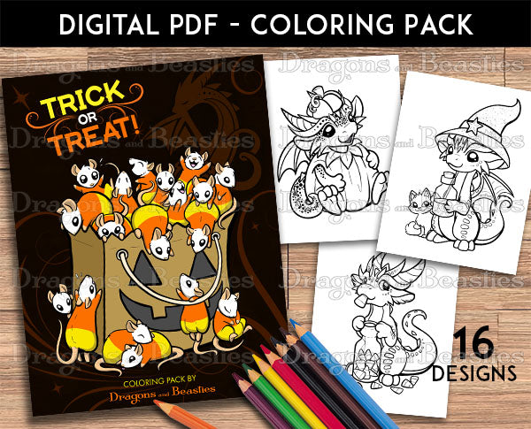 Trick or Treat Coloring Pack (Downloadable)