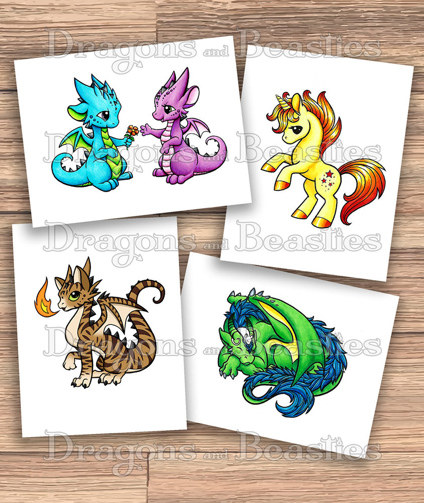 Color Dragons and Beasties Coloring Pack
