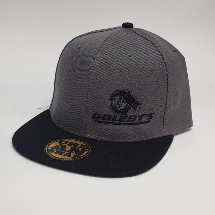 Goleby's Parts Snap back Hat, Grey and Black