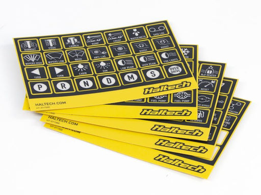 Haltech CAN Keypad Label Set Nexus