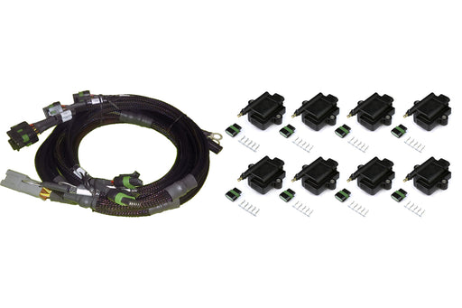 Haltech HT-130313 V8 Ford Small/Big Block 8 x Individual High Output IGN-1A Inductive Coil and Harness Kit