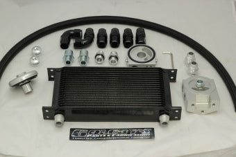 Billet Oil cooler kit 3/4 16 thread including filter relocation