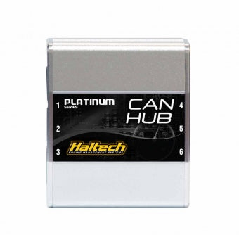 "Haltech HT-059990 CAN HUB 6 Port - for use with up to five CAN devices (includes 4 x White 300mm/12"" CAN cables)"