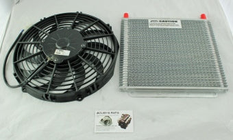 PWR 19mm Transmission oil cooler and Spal thermo fan kit