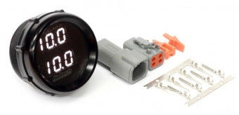 HT-012007 Wideband O2 Dual Channel Gauge Only 52mm/2-1/16 Black Bezel with White LED Display.