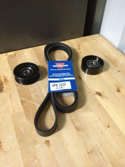 BA, BF and FG 6 Cylinder drive belt and pulley set