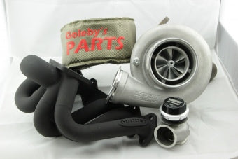 Turbo kit 2jzgte Precision 7675, 6Boost turbo manifold, TURBOSMART 50MM GENV wastegate