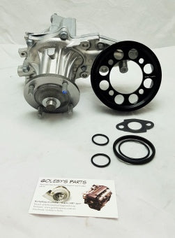 Toyota 1jzgte and 2jzgte non hydro water pump conversion including pulley