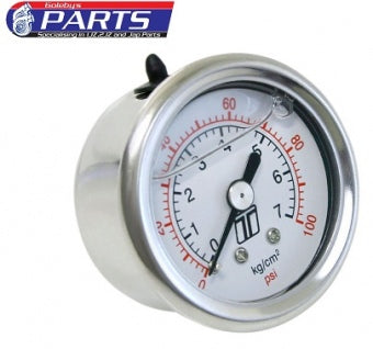 Turbosmart FPR Gauge 0-100psi - Liquid Filled TS-0402-2023