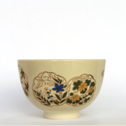 Matcha Bowl - Mino yaki - Four seasons flower