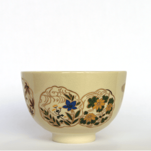Matcha Bowl / Four seasons flower / Mino Yaki