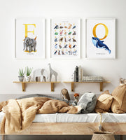 Animal Personalised Name Gold Foil Print Lifestyle