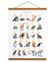 Animal Alphabet Chart English A2 Wooden Hanger