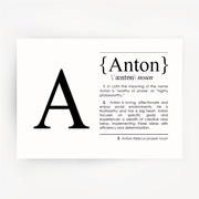 Name Definition Black Print ANTON