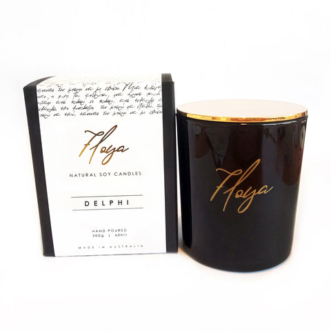 Floya 'DELPHI' Pure Soy Candle Black