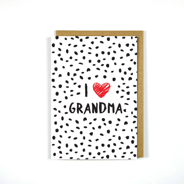 Greeting Card Mother's Day I Heart Grandma