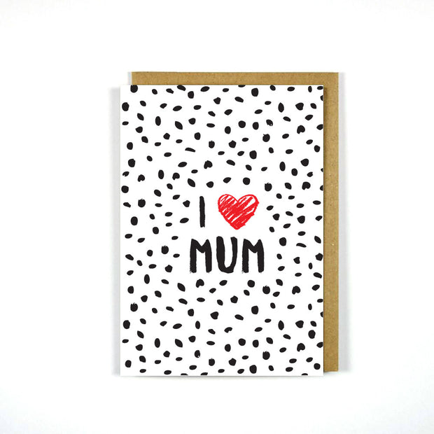 Greeting Card Mother's Day I Heart Mum
