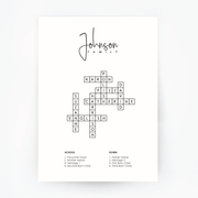 FAMILY Name Crossword Print No Frame