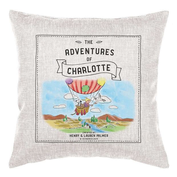 Storybook Cushion Personalised - Hot Air Balloon