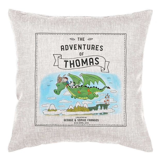 Storybook Cushion Personalised - Dragon