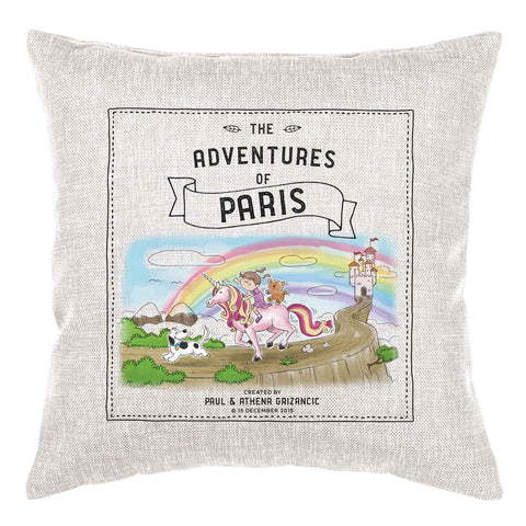 Storybook Cushion Personalised - Unicorn