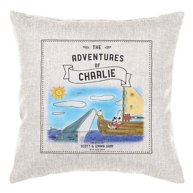 Storybook Cushion Personalised - Whale of a Time