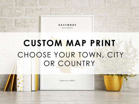 CUSTOM Map Art Foil Print