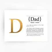 DAD Definition Art Print Gold