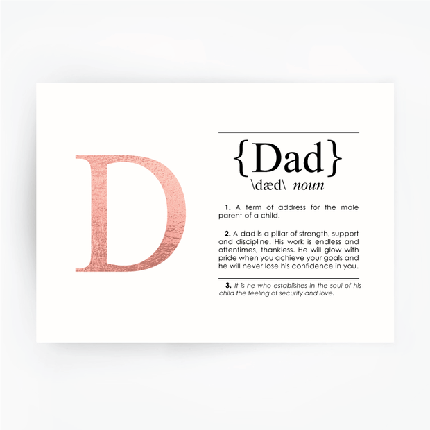 DAD Definition Art Print Rose Gold