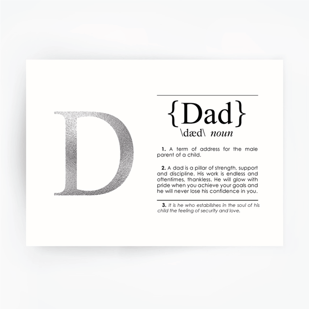 DAD Definition Art Print Silver