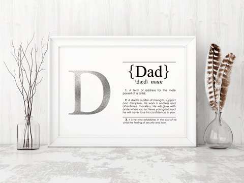 DAD Definition Art Print Lifestyle
