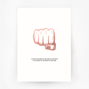 FIST 'Size of the Fight' Print Rose Gold